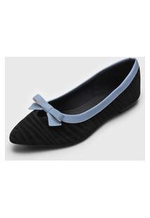 Sapatilha Dafiti Shoes Laço Azul-Marinho