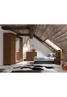 Dormitório Cristiane C/ Espelho Jacarandá Madeirado Robel Móveis