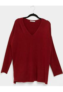 Suéter City Lady Plus Size Feminino - Feminino-Vinho