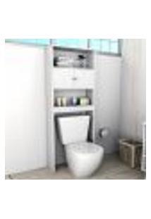 Armário De Banheiro Slim Com 2 Portas - Branco