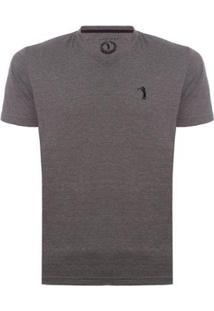 Camiseta Gola V Básica Aleatory Masculina - Masculino-Chumbo