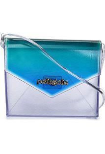 Bolsa Petite Jolie Hello Feminina - Feminino-Verde+Azul