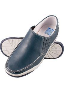 Sapato Atron Shoes Confort Azul