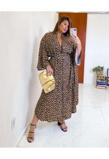 Vestido Almaria Plus Size Miss Taylor Midi Animal
