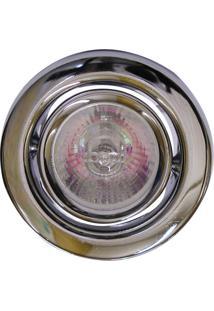Spot Dicróica Dirigível Aço Com Pintura Eletrostática Mr16 50W 220V Cromado