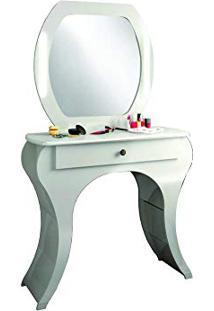 Penteadeira C/ Espelho Retrô Off White Tw131 - Dalla Costa