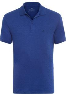 Polo Masculina Oxford - Azul