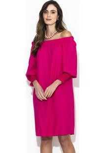 Vestido Curto Ombro A Ombro Rosa
