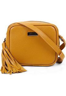 Bolsa Couro Santa Lolla Mini Bag Barbicachos Feminina - Feminino-Amarelo