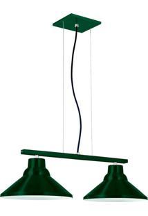Pendente 6032 Redondo 2 Lâmpadas Verde Bivolt Pantoja&Carmona