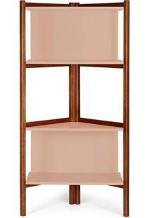 Estante Easy Cor Cacau Com Bege Claro - 28999 - Sun House