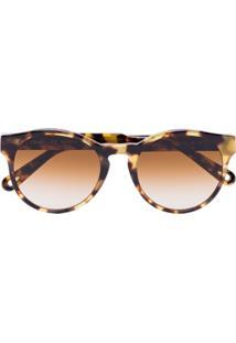 Chloé Eyewear Óculos De Sol Havana Com Efeito Tartaruga - Marrom