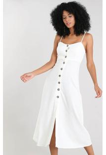 a56629f318 Vestido Branco Linho feminino