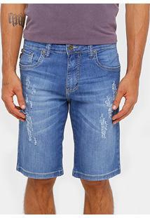 Bermuda Jeans Triton Estonada Indigo Masculina - Masculino