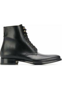 Scarosso Ankle Boot Com Amarração - Preto