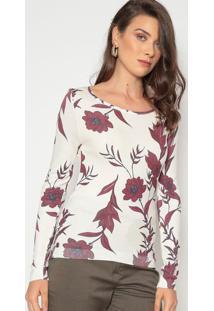 Blusa Floral - Off White & Vinhodudalina