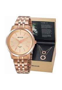 Kit Relógio Seculus Feminino Com Escapulário 20890Lpskra2K1