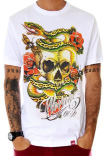 Camiseta Wevans Skull Old School Branco