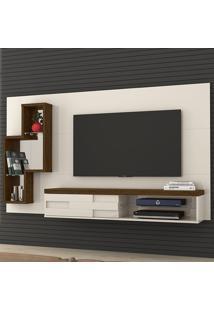 Painel Para Tv 1 Porta Helena 269122 Off White/Savana - Madetec