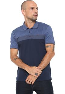 Camisa Polo Aramis Manga Curta Texturizada Azul