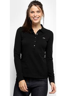 ... Camisa Polo Lacoste Manga Longa Botões Feminina - Feminino 760cbb3cb5e9a