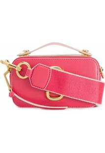 Marc Jacobs Bolsa Estruturada The Sure Shot - Rosa