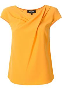 Paule Ka Blusa Decote Drapeado - Amarelo