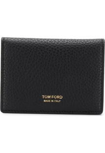 Tom Ford Carteira De Couro Texturizado - Preto