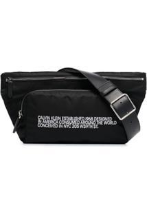 Calvin Klein 205W39Nyc Pochete 'Ck' Estampada - Preto