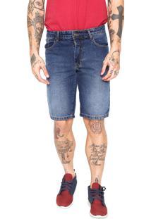 Bermuda Jeans Coca-Cola Jeans Reta Comfort Azul