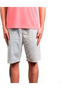 Shorts Elástico Salt35G Casual Areia Bege
