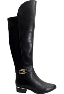Bota Over The Knee Comfortflex 1769306 - Feminino-Preto