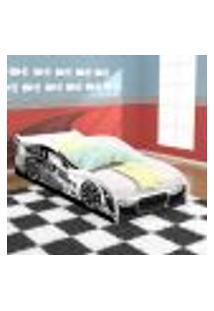 Cama Solteiro Carro Drift - Branca - Rpm Móveis