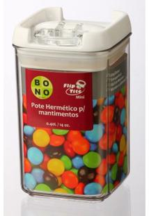 Mini Pote De Acrílico Flip Tite Para Mantimentos 400 Ml Nlq305A-060