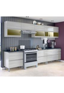 Cozinha Compacta Belíssima Plus 7 Pt 5 Gv Saara Wood E Granito Slate