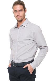 Camisa Calvin Klein Reta Xadrez Cinza
