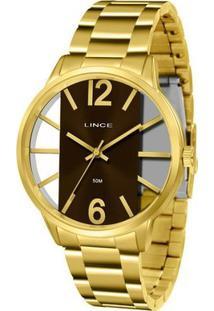 Relógio Lince Feminino - Feminino-Dourado