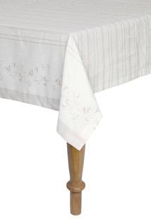 Toalha De Mesa Retangular Artex 1,60X2,70 M Anti Mancha Alessa Bege
