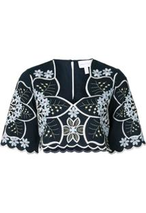Alice Mccall Blusa Afternoon Cropped - Azul