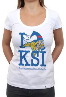 Ksi - Camiseta Clássica Feminina