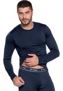 Camiseta Thermo Dec. Redondo Mg Longa - L851 Marine/P