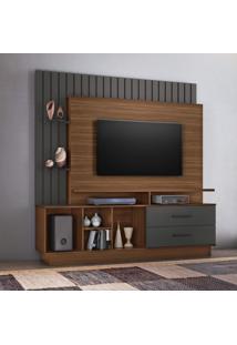 Estante Home Para Tv Até 65 Polegadas Fascinio Candian Jcm Móveis Rovere/Grafite