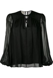 Temperley London Blusa Lullaby - Preto