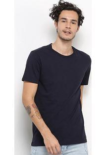 Camiseta Calvin Klein Lisa Masculina - Masculino-Marinho