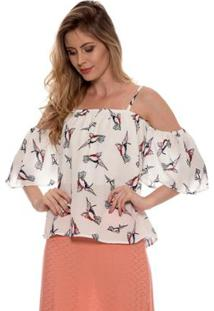 Camiseta Bisô Ciganinha Feminina - Feminino-Branco