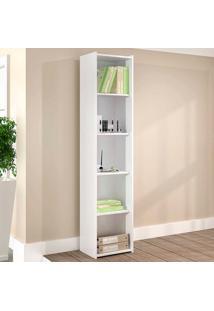 Estante Para Livros Biblioteca P Esm 206 Branco - Móvel Bento