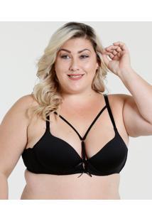 Sutiã Feminino Tiras Strappy Laço Plus Size Marisa
