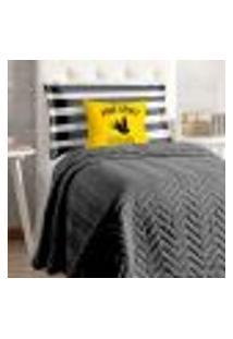 Cobre Leito Preto Solteiro Infantil 4 Peças Matelado 2,20M X 1,60M Com Porta Travesseiro E Almofada Decorativa Estampada