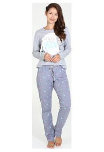 Marisa. Pijama Feminino Estampa Mickey Manga Longa Disney 6df984302f1