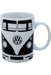 Caneca Cerâmica Volkswagen Kombi Preta 135 Ml - Caneca Cerâmica Volkswagen Kombi Preta 135 Ml